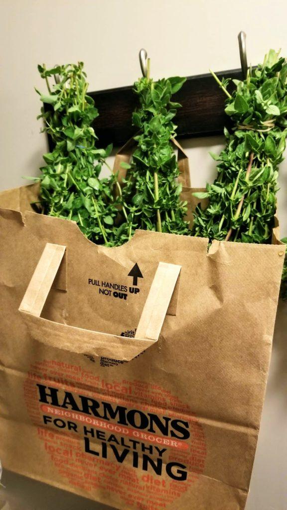 hang herbs in pantry