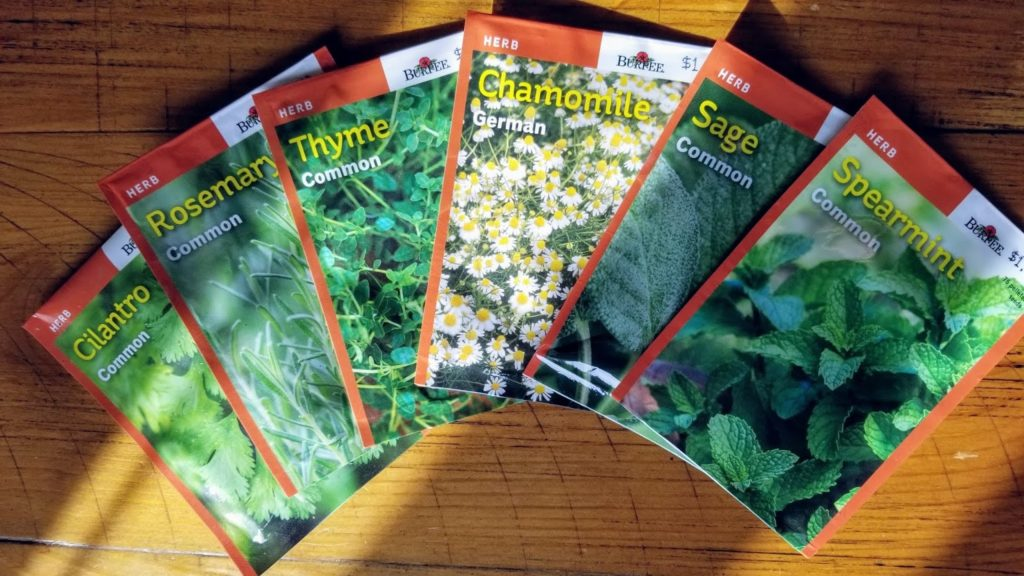 herbs seed packets