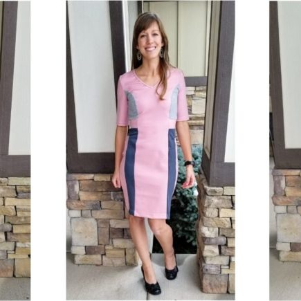 Colorblocked sewing pattern dress