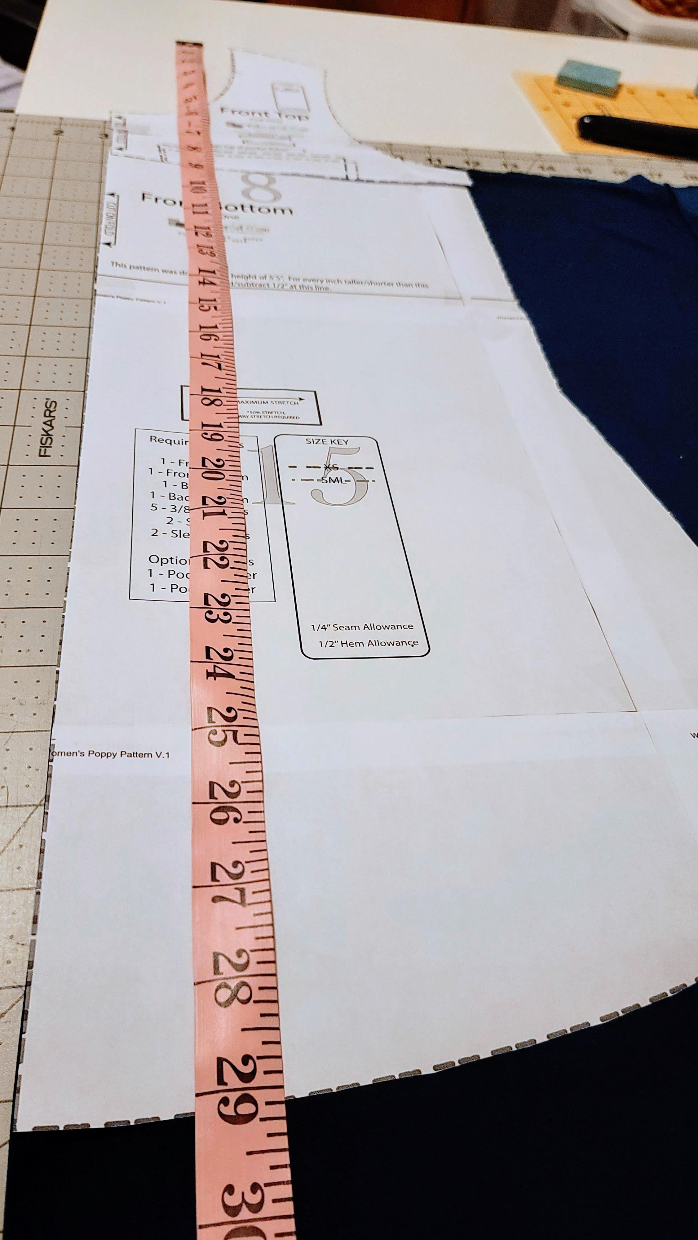 measuring a pattern